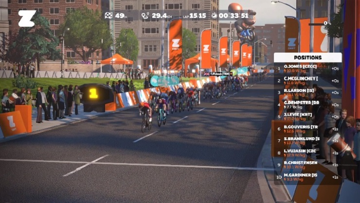 South African Brad Gouveris placed third in the Crit City Slam tonight.