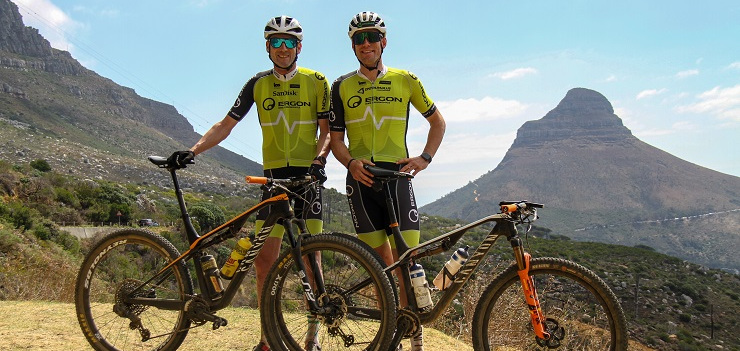 German athlete and heart transplant survivor Elmar Sprink (left), who survived the coronavirus, is planning to tackle next year's Cape Epic alongside fellow countryman Peter Schermann.