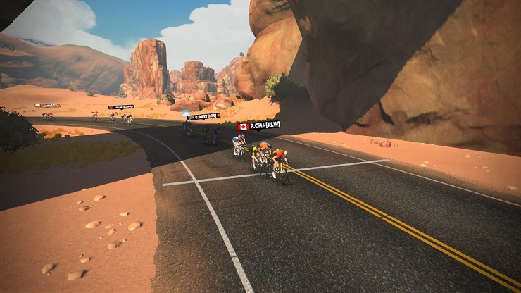 Grega Bole won stage four of the Tour for All virtual race yesterday.