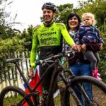 Matthys Beukes pictured with his family after he conquered a 1 000km mountain bike challenge that took place at his house in George.