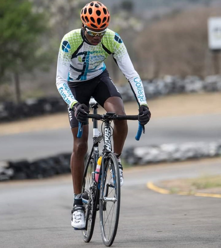 Michael Dladla, a high-performance training coordinator with KwaZulu-Natal Cycling, collided with a car while he was on a training ride in Hammarsdale recently.