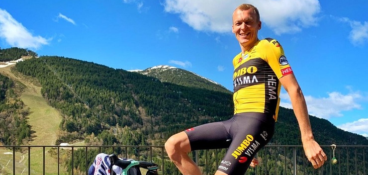 Team Jumbo-Visma's Robert Gesink was the fastest finisher on stage five of the Giro d'Italia Virtual yesterday.