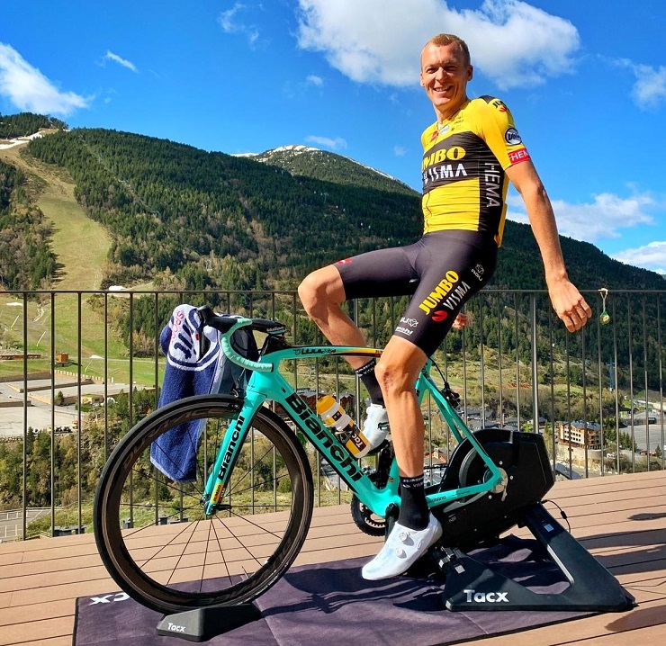 Team Jumbo-Visma's Robert Gesink was the fastest finisher on stage five of the Giro d'Italia Virtual yesterday. Photo: Supplied